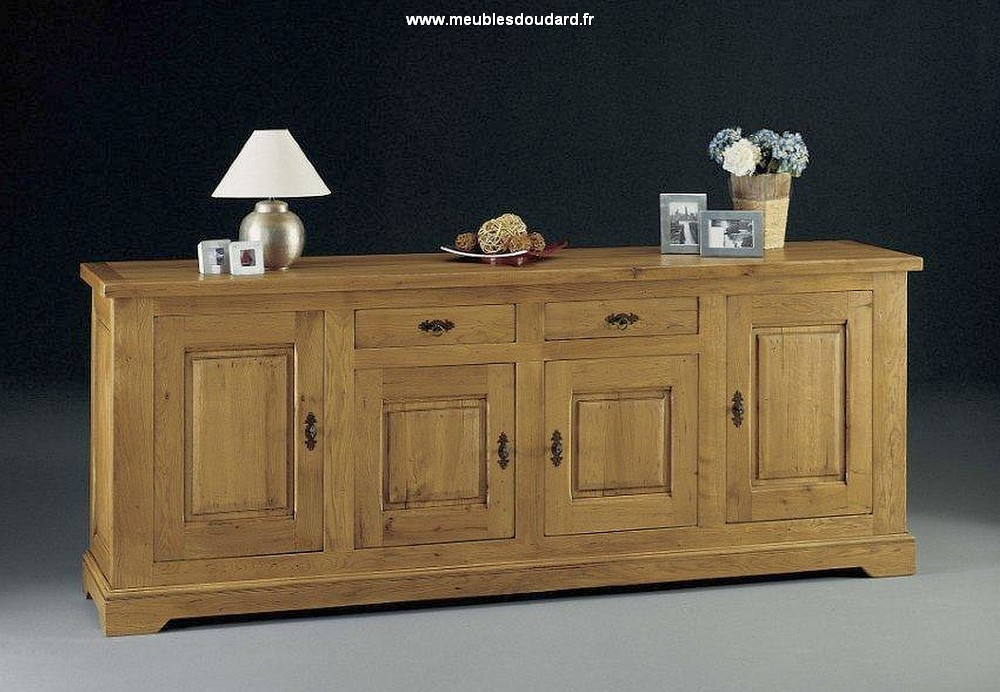 buffet rustique en ch ne 4 portes ref antan 6. Black Bedroom Furniture Sets. Home Design Ideas