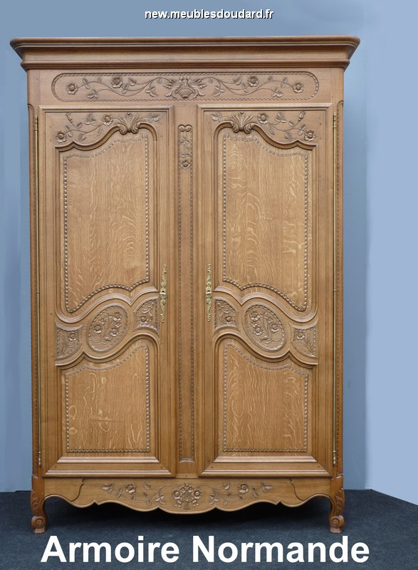 armoire normande r f rose corbeille en ch ne. Black Bedroom Furniture Sets. Home Design Ideas