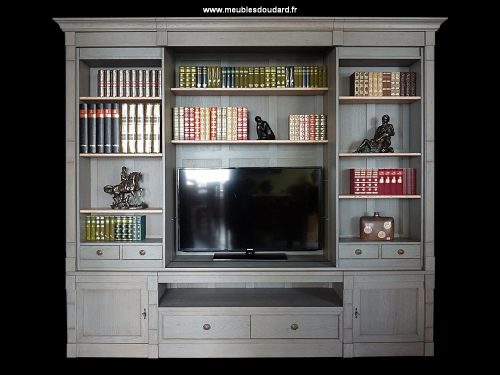 biblioth que pour tv biblioth que tv directoire en bois. Black Bedroom Furniture Sets. Home Design Ideas
