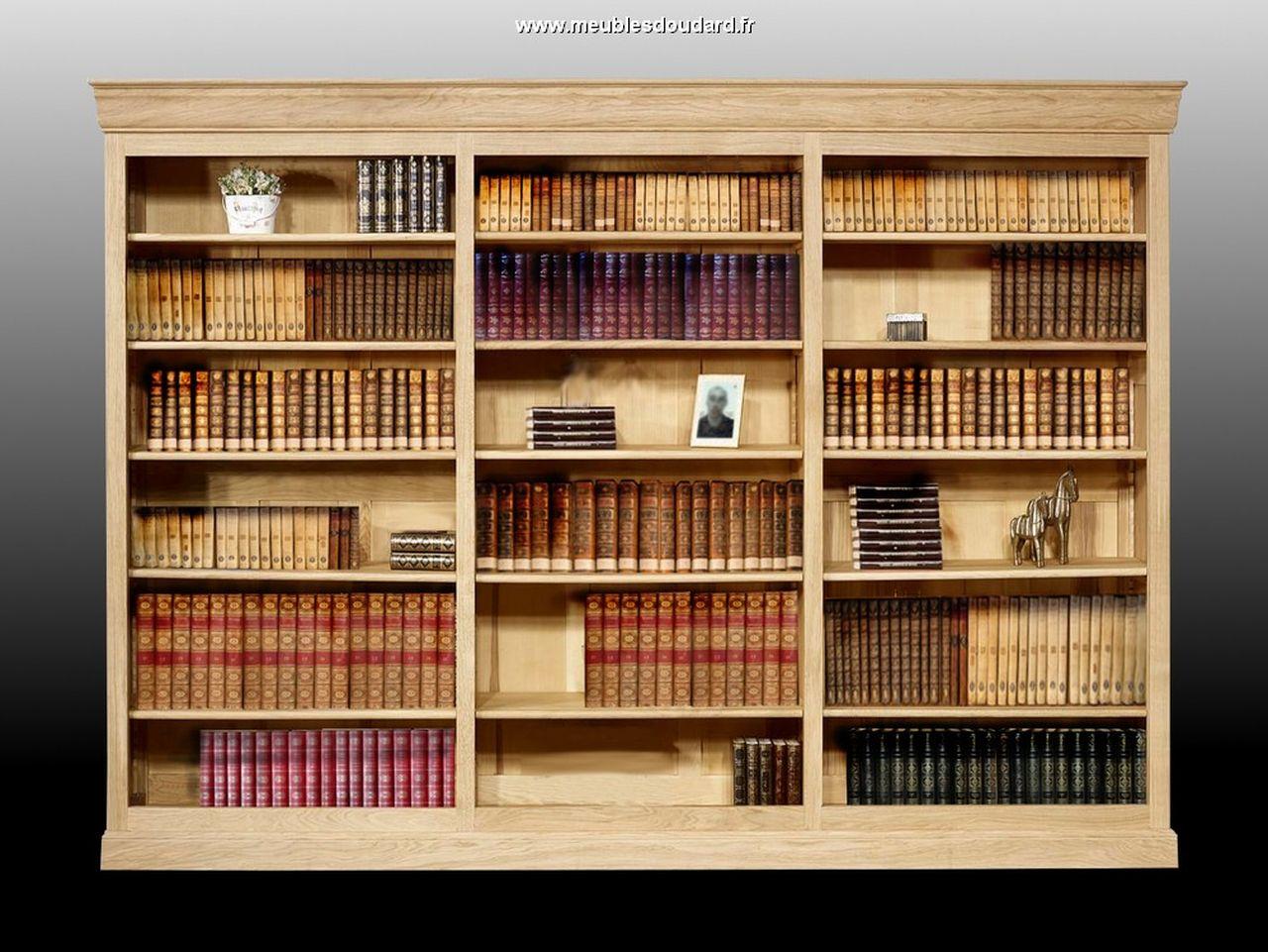 Biblioth u00e8queàétag u00e8res en ch u00eane, meuble biblioth u00e8que Louis Philippe en ch u00eane, biblioth u00e8que  # Bibliothèque Modulable Bois Massif