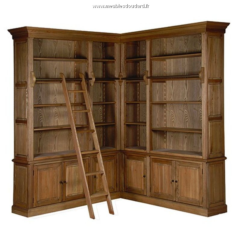 biblioth que sur mesures meuble biblioth que en bois massif. Black Bedroom Furniture Sets. Home Design Ideas