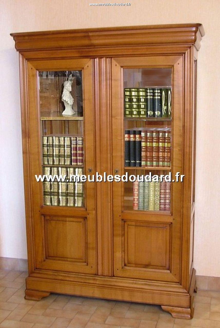 biblioth que bois massif merisier. Black Bedroom Furniture Sets. Home Design Ideas