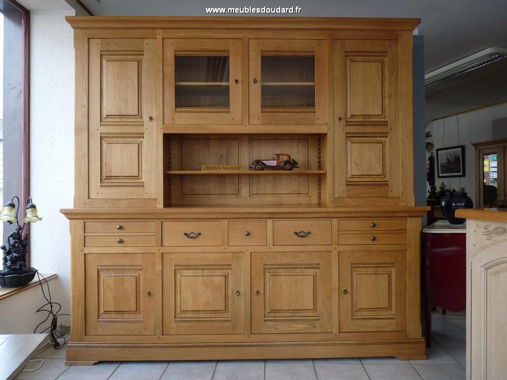 Buffet vaisselier 4 portes ref chamonix ch ne - Buffet vaisselier bois ...