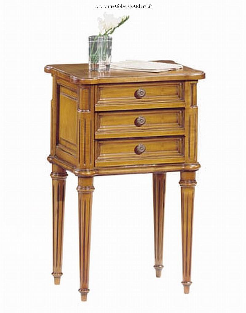 Chambre coucher louis xvi merisier - Table de chevet merisier ...