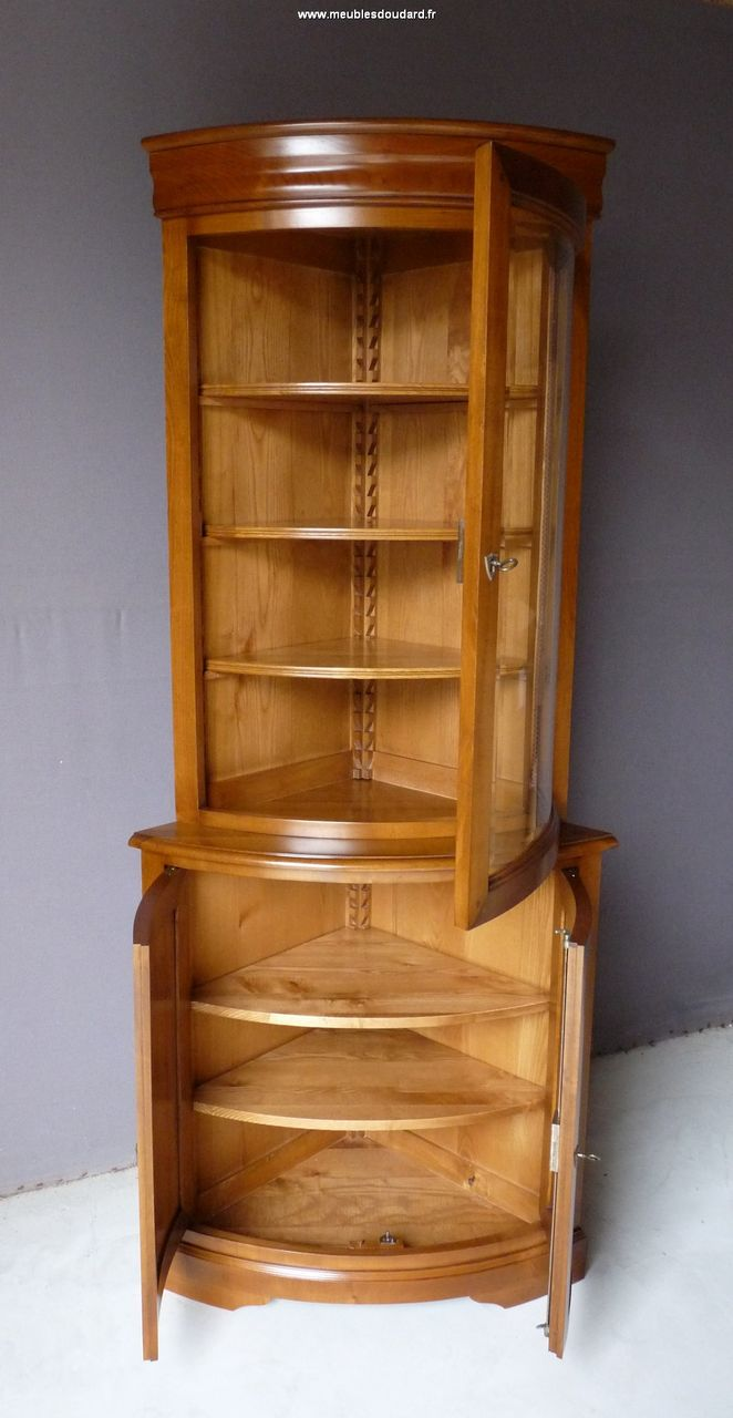 Meuble bibliotheque d angle maison design for Meuble tv xxl style louis philippe en pin