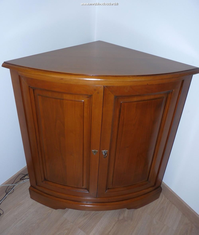 Meuble d 39 angle louis philippe en merisier r f r 580 - Repeindre meuble louis philippe ...
