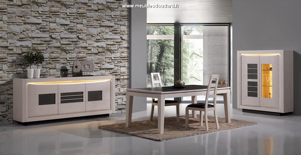 Salle manger moderne en bois blanchi stella for Salle a manger bois moderne