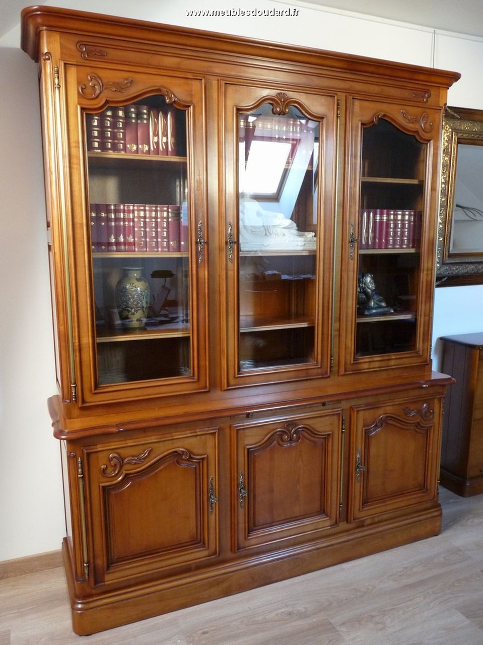 biblioth que merisier meuble biblioth que louis xv. Black Bedroom Furniture Sets. Home Design Ideas