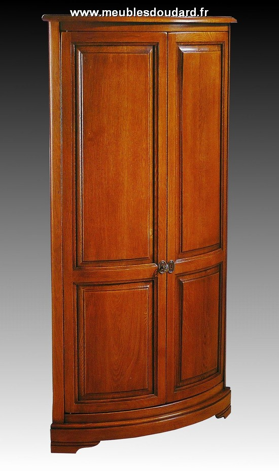 Encoignure meuble de coin en merisier for Meuble colonne d angle
