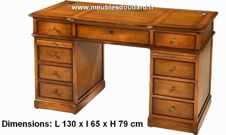 table bureau tiroirs en merisier r f dh 080. Black Bedroom Furniture Sets. Home Design Ideas