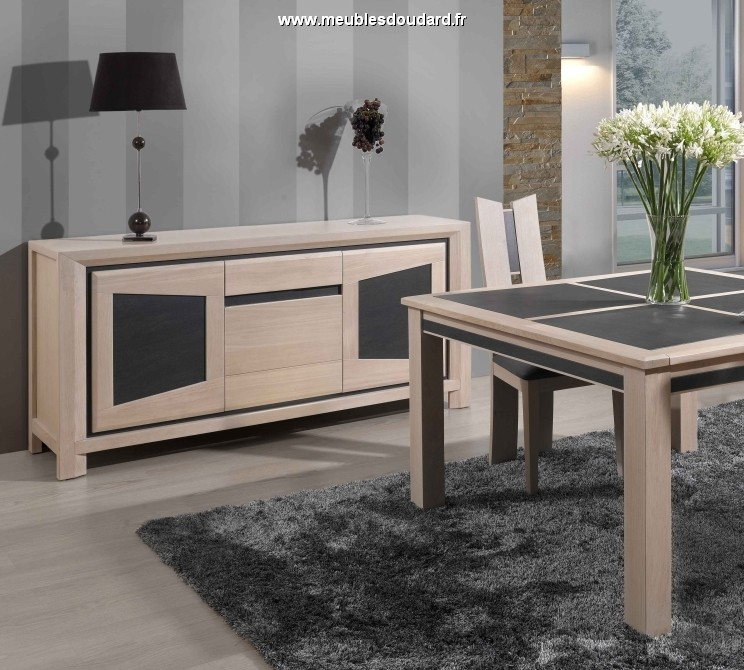 salle manger contemporaine en ch ne massif et c ramique salle manger moderne en bois massif. Black Bedroom Furniture Sets. Home Design Ideas
