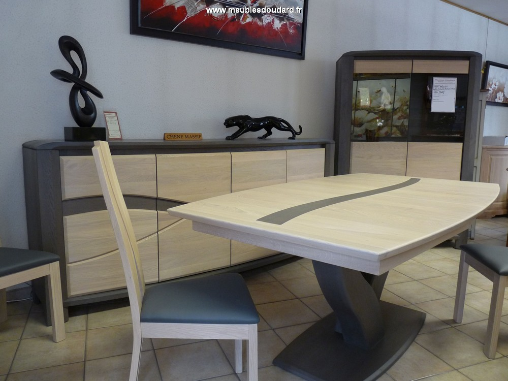 Salle manger moderne en bois massif oc ane for Salle a manger moderne en bois