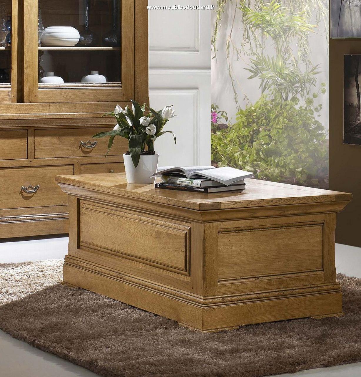 Table basse en ch ne table de salon dinatoire table bar de salon table de - Table de salon plateau relevable ...