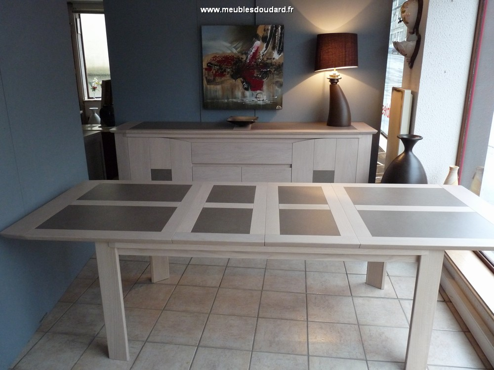 Table de salle manger bali table rectangle en ch ne et for Table de salle a manger contemporaine avec rallonge