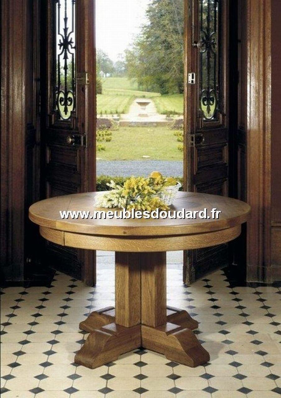 Chaise campagnarde en ch ne r f 7900le ch ne - Table ronde chene massif avec allonges ...