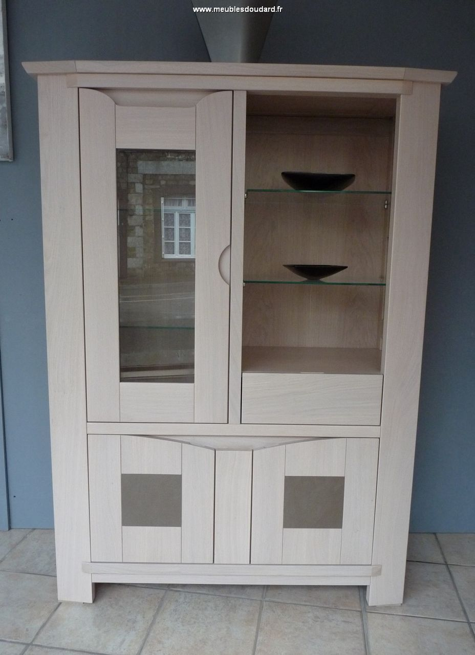 vitrine armoirette bali colonne bali argentier moderne en bois massif bali. Black Bedroom Furniture Sets. Home Design Ideas
