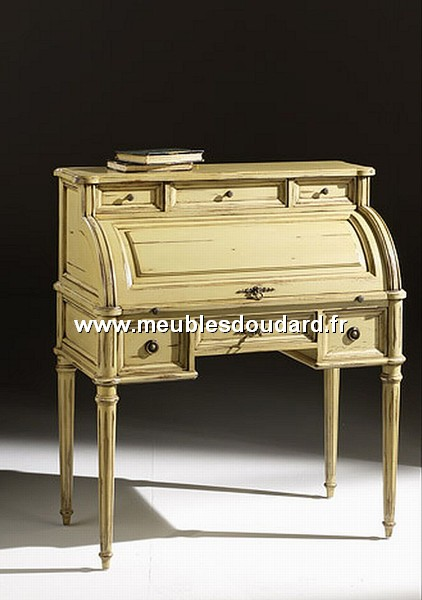 bureau cylindre louis xvi merisier. Black Bedroom Furniture Sets. Home Design Ideas