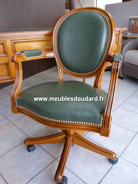 fauteuil de bureau louis xvi basculant merisier. Black Bedroom Furniture Sets. Home Design Ideas