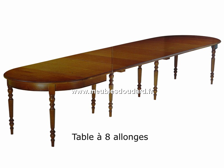Table ronde 8 rallonges en ch ne r f 288 for Table ronde en chene
