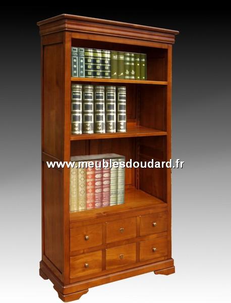 biblioth que ouverte louis philippe en merisier r f l 40 dh. Black Bedroom Furniture Sets. Home Design Ideas