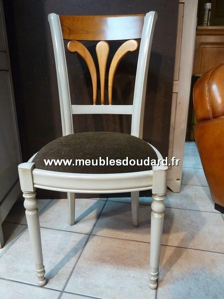 Chaise de salle a manger louis philippe en merisier for Chaise de salle a manger merisier
