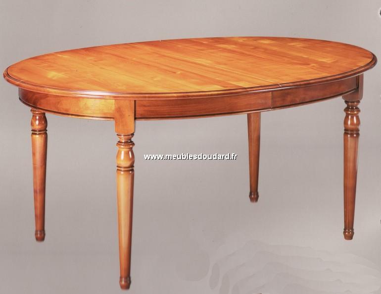 Table ovale de salle manger en merisier de style louis - Table a manger ovale design ...