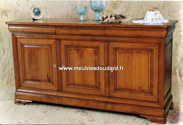 buffet louis philippe 3 portes ref des. Black Bedroom Furniture Sets. Home Design Ideas