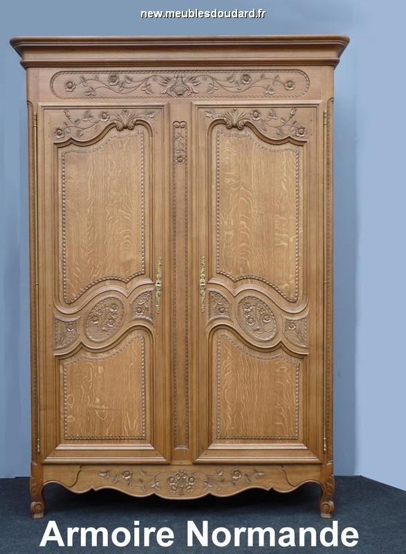 armoire normande en chÊne sculptÉe ref rose