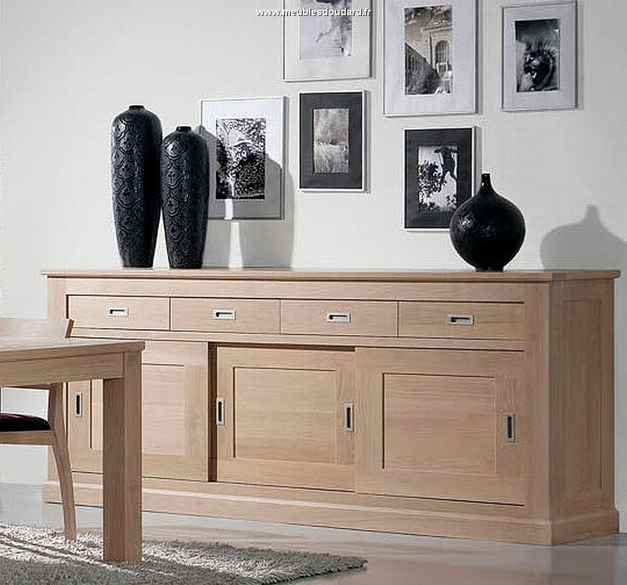 meubles contemporains en bois massif. Black Bedroom Furniture Sets. Home Design Ideas