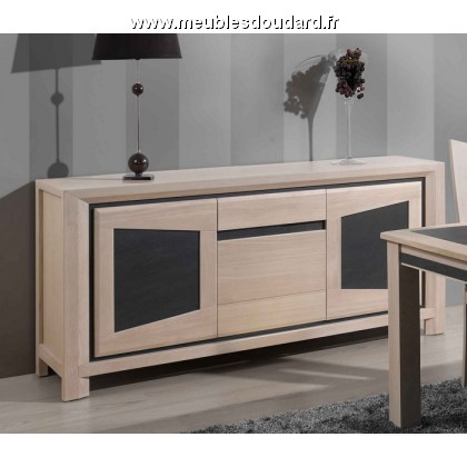 salle manger contemporaine en ch ne massif et c ramique. Black Bedroom Furniture Sets. Home Design Ideas