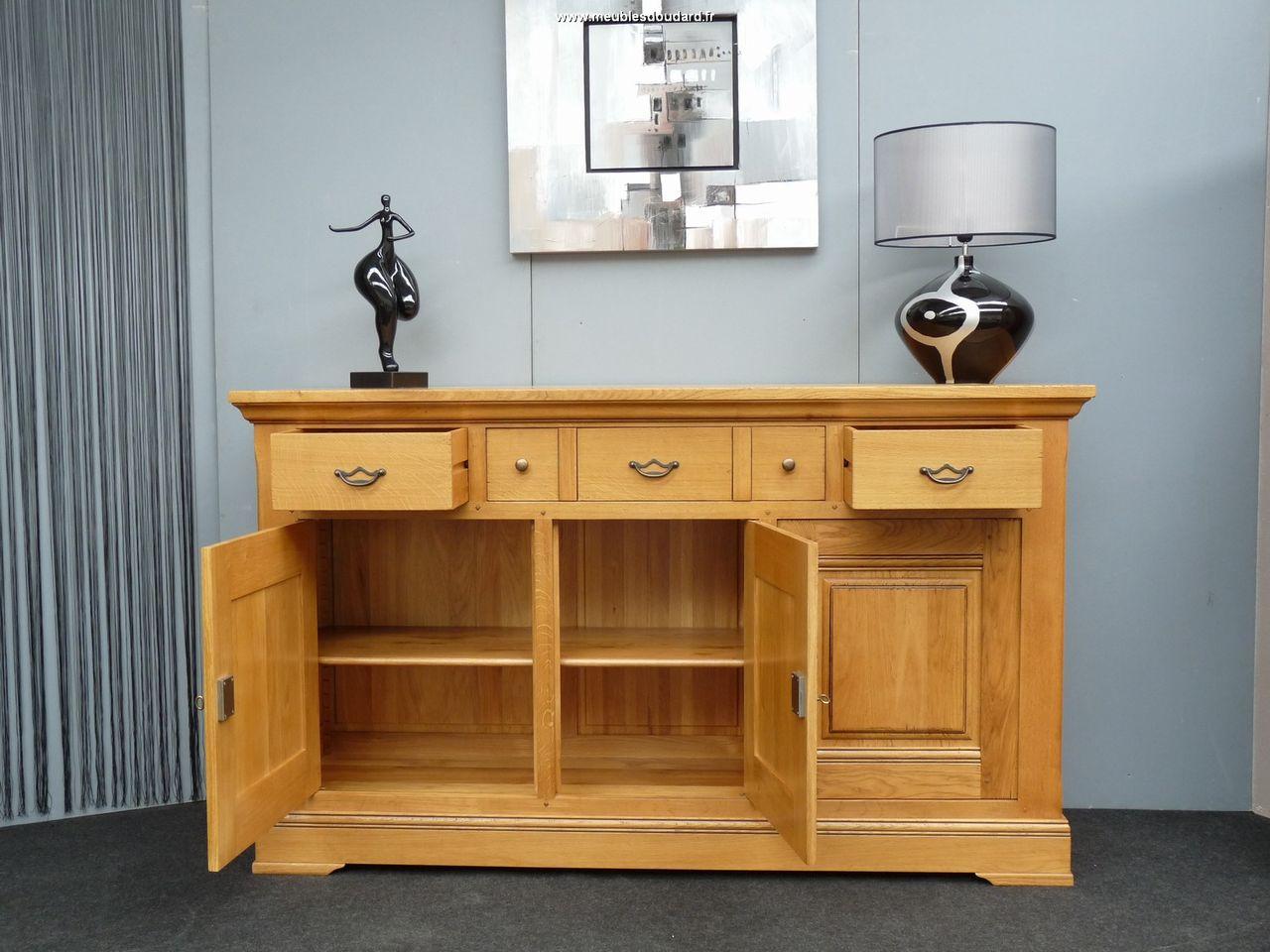 buffet bas 3 portes 3 tiroirs ref b nodet ch ne. Black Bedroom Furniture Sets. Home Design Ideas