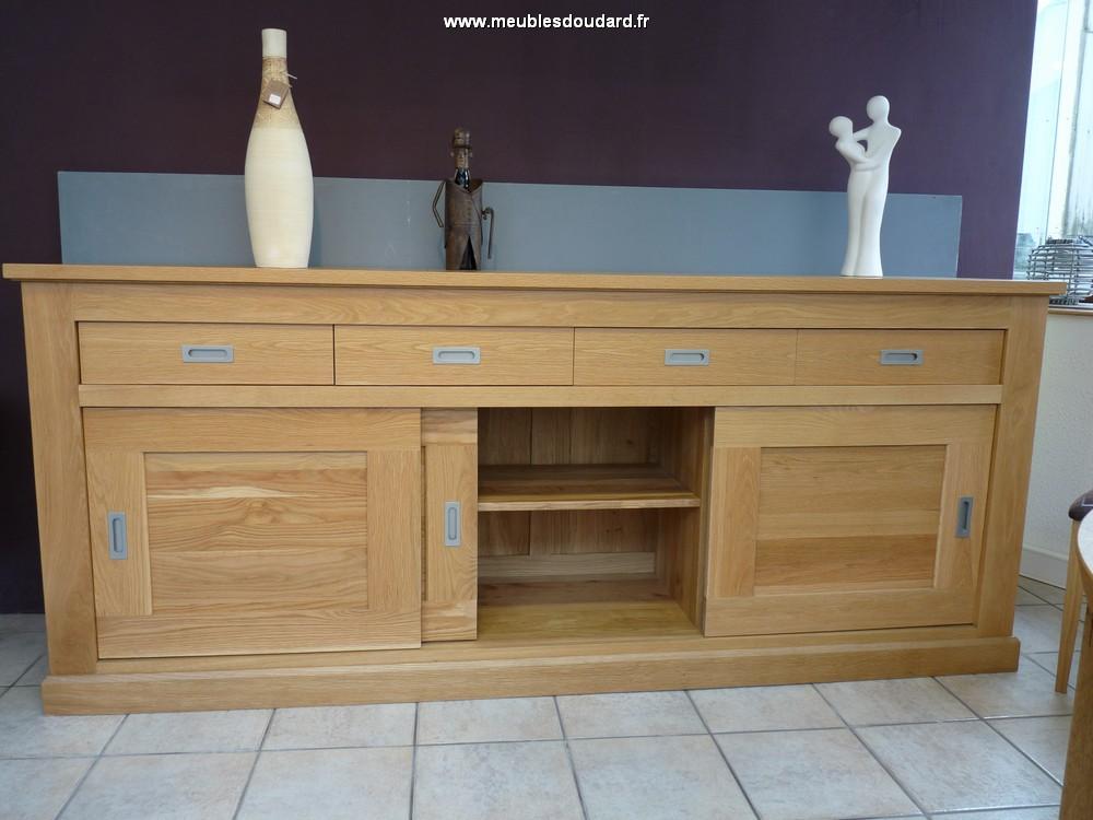 bahut moderne en bois massif buffet portes coulissantes moderne. Black Bedroom Furniture Sets. Home Design Ideas