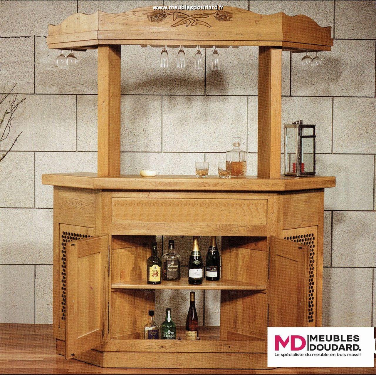 meuble bar en bois rustique paysanne