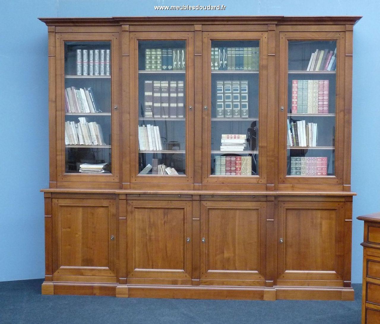 biblioth que merisier massif de style directoire. Black Bedroom Furniture Sets. Home Design Ideas