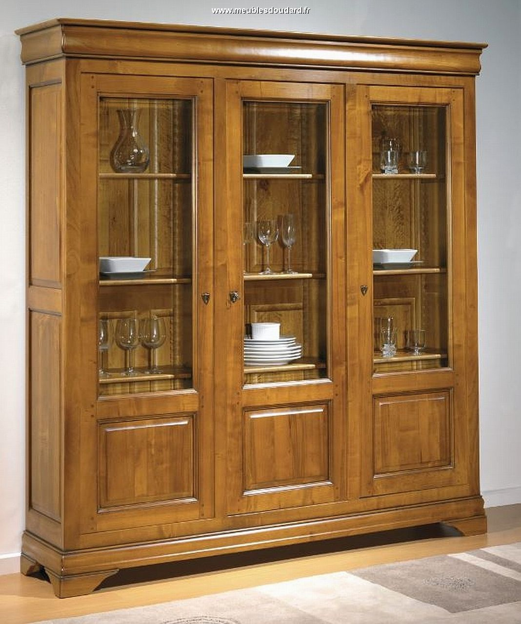 biblioth que merisier armoire biblioth que meuble de rangement biblioth que vitrine biblioth que. Black Bedroom Furniture Sets. Home Design Ideas