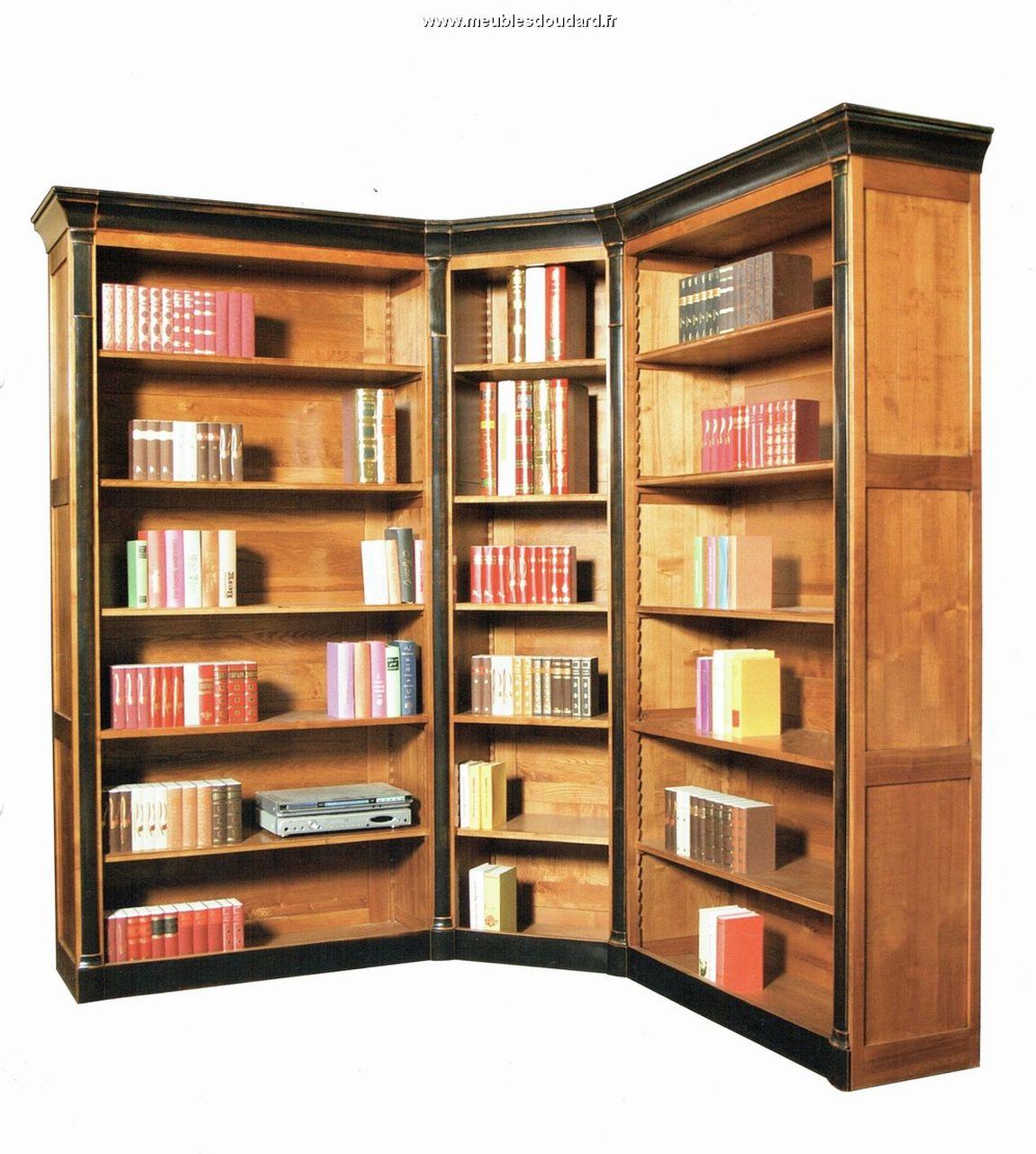 Biblioth que sur mesures en bois massif meuble sur mesures for Meuble bois massif sur mesure
