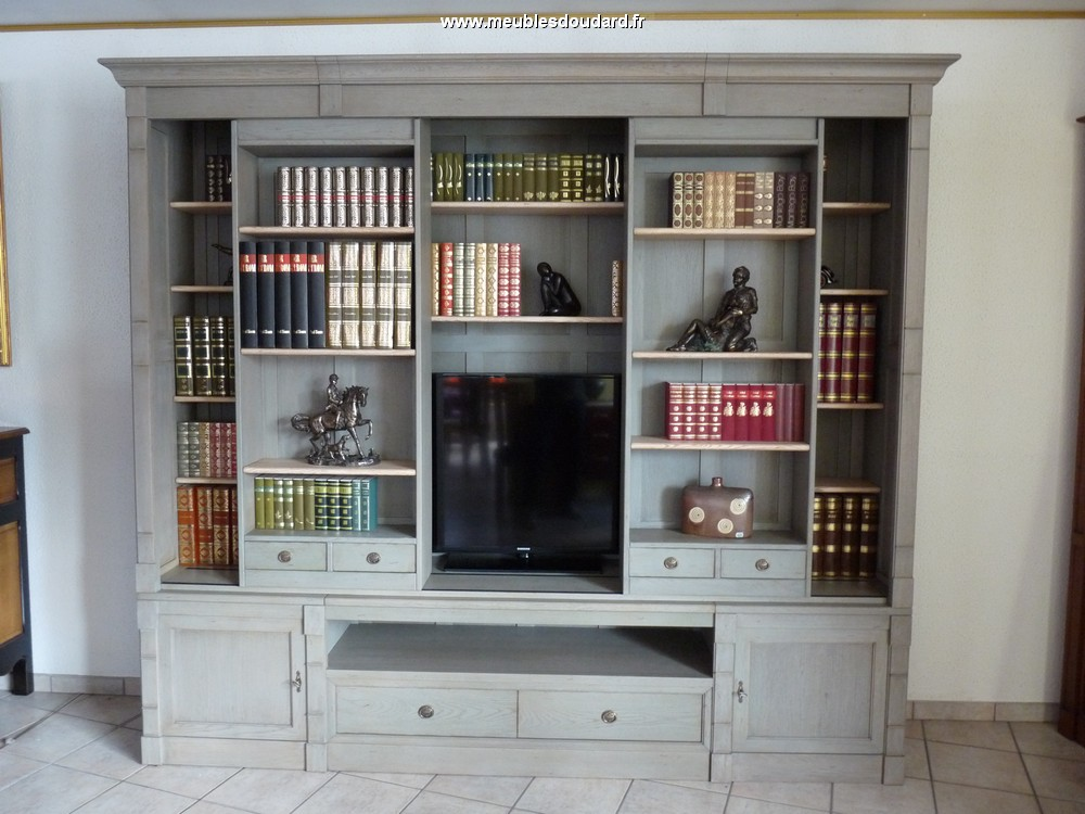 Meuble tv biblioth que meuble tv rangement biblioth que for Meuble bibliotheque design