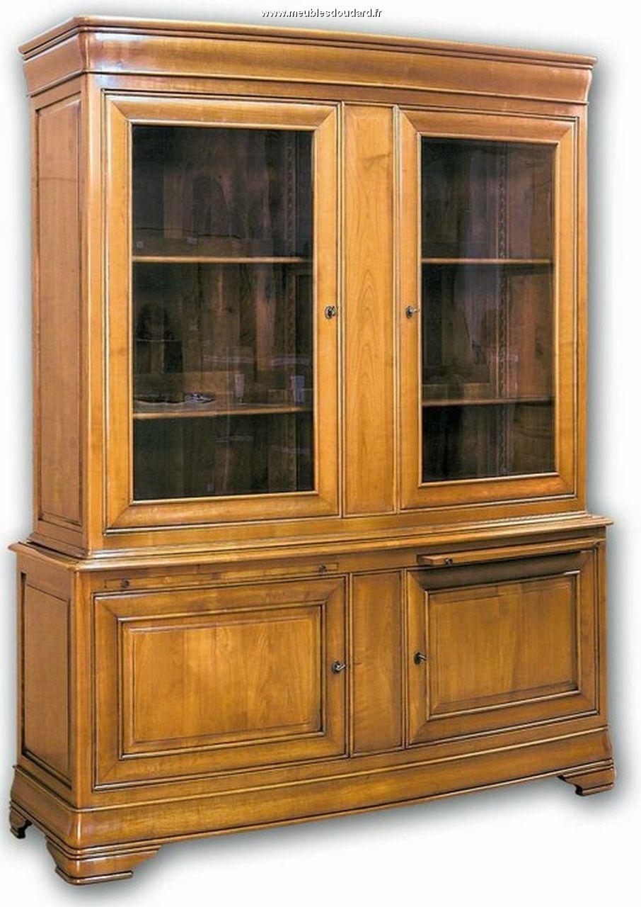 Biblioth Que Directoire En Bois Clair Meuble Rangement  # Bibliotheque Echelle Merisier