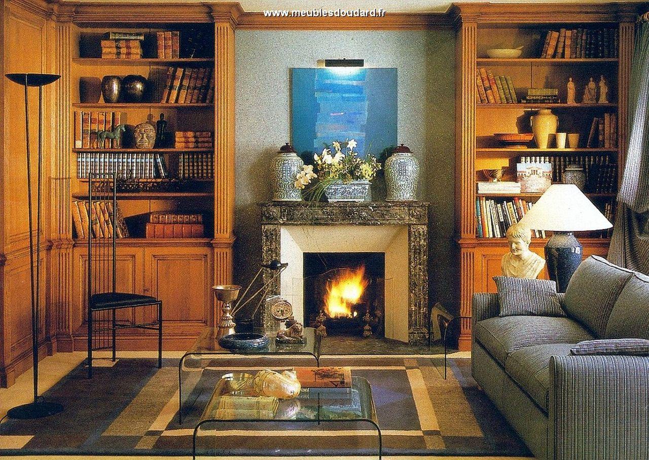 biblioth que sur mesure am nagement biblioth que en bois massif agencement d 39 un mur en pi ce. Black Bedroom Furniture Sets. Home Design Ideas