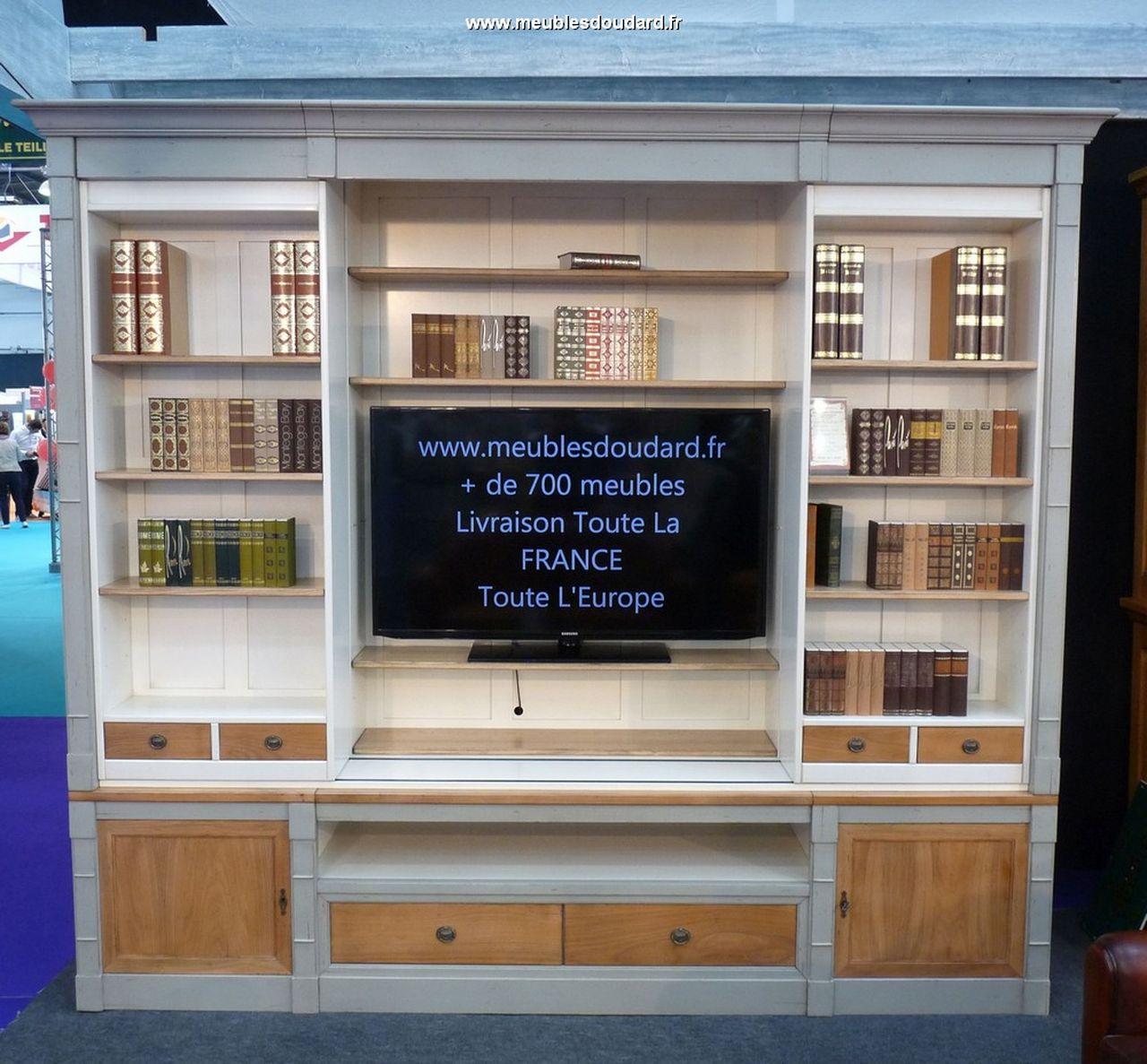 Biblioth Que Tv Merisier Biblioth Que En Bois Massif # Meuble Tv Bibliotheque Bois