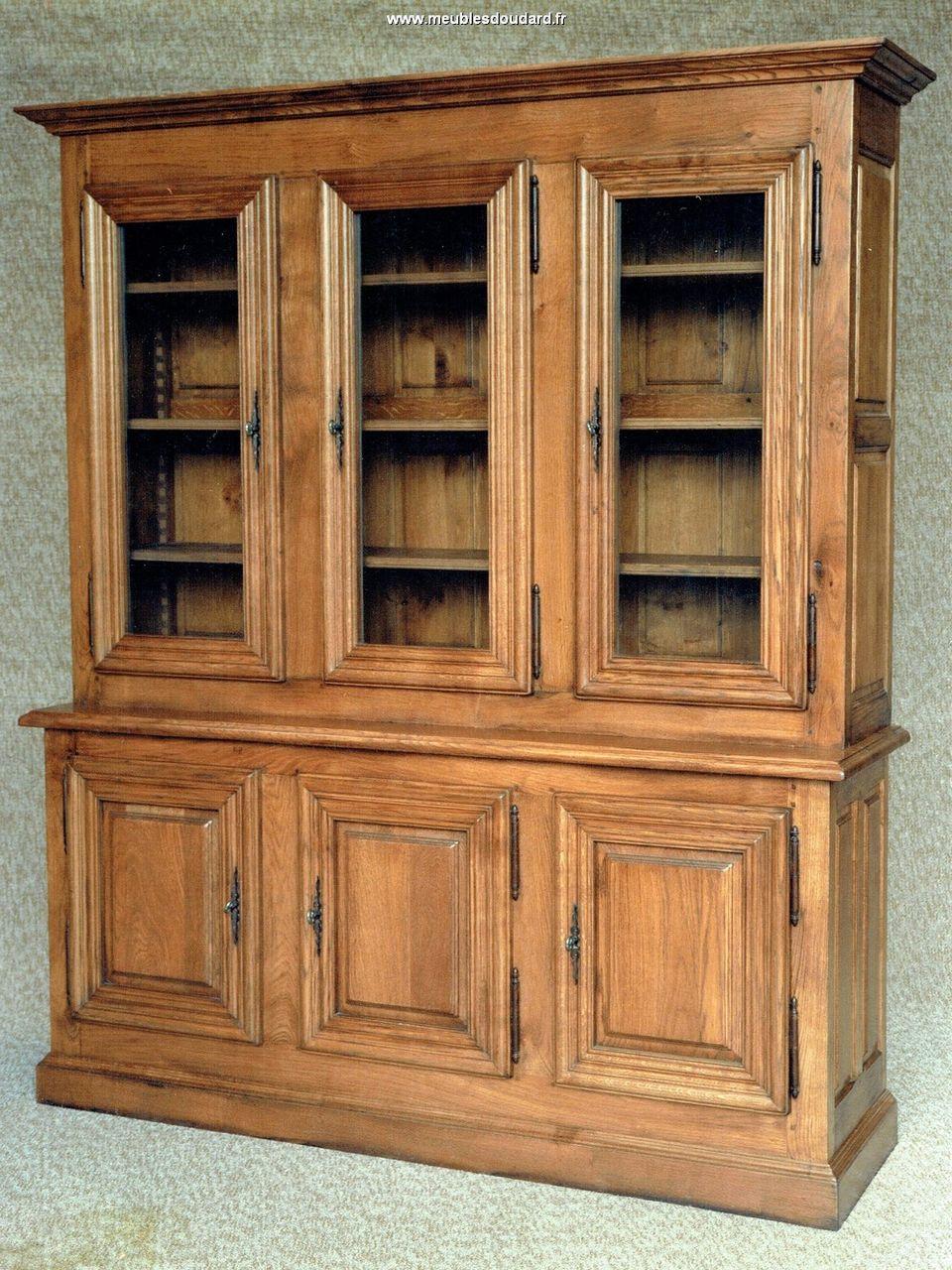 bibliotheque en chene de style rustique louis xiii. Black Bedroom Furniture Sets. Home Design Ideas