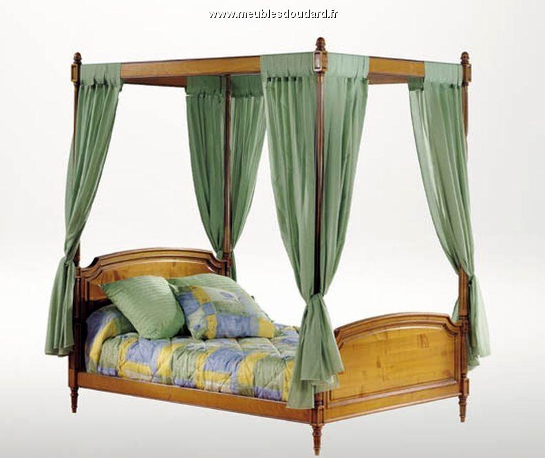 lit baldaquin style louis xvi merisier massif. Black Bedroom Furniture Sets. Home Design Ideas