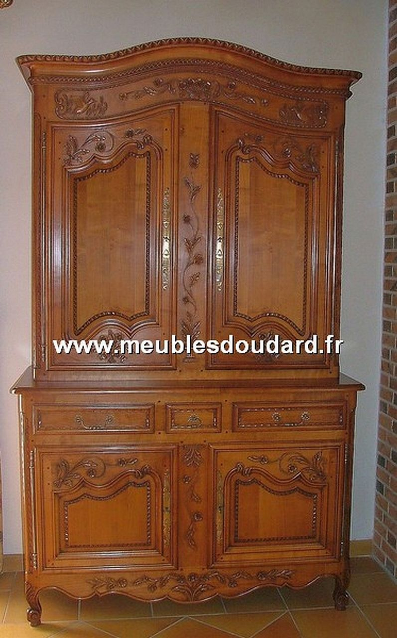 armoire normande merisier r f chambord. Black Bedroom Furniture Sets. Home Design Ideas