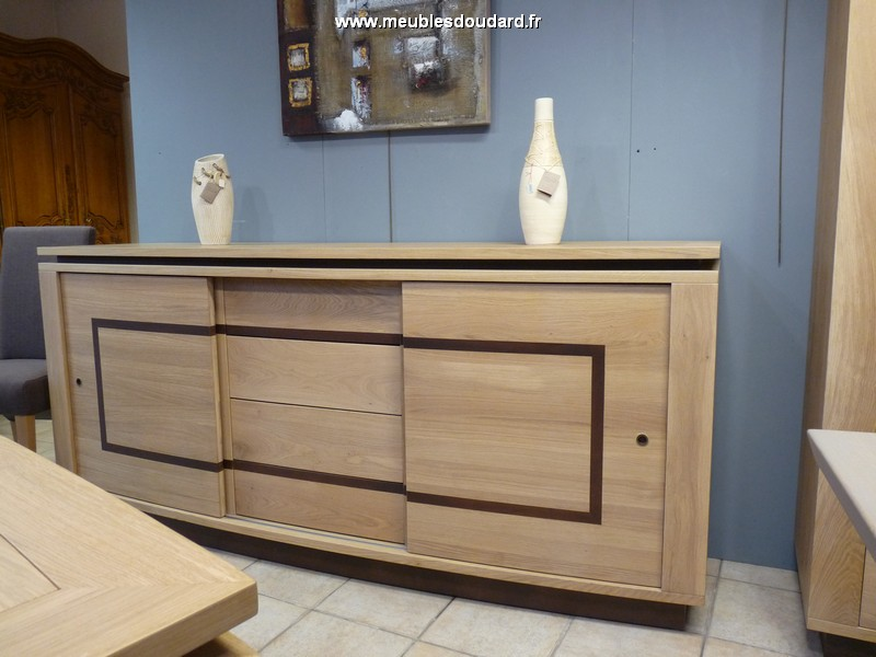 Buffet bas en ch ne massif style contemporain - Buffet chene massif contemporain ...