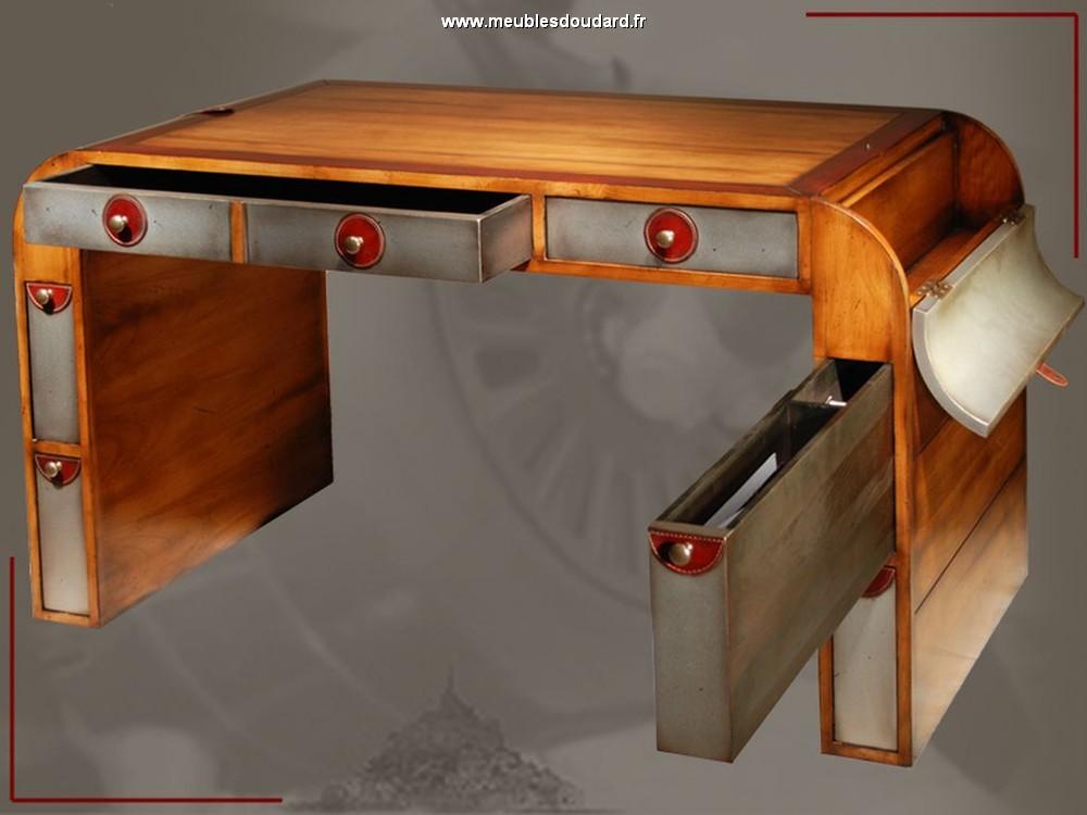 Meuble bureau en bois massif style moderne