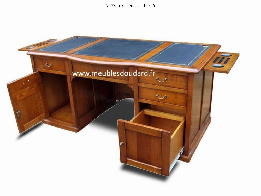 bureau ministre merisier. Black Bedroom Furniture Sets. Home Design Ideas