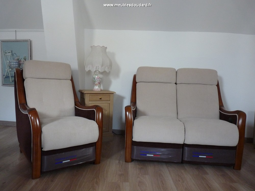 Salon tissu relaxation lectrique r f guitry - Salon relaxation electrique ...
