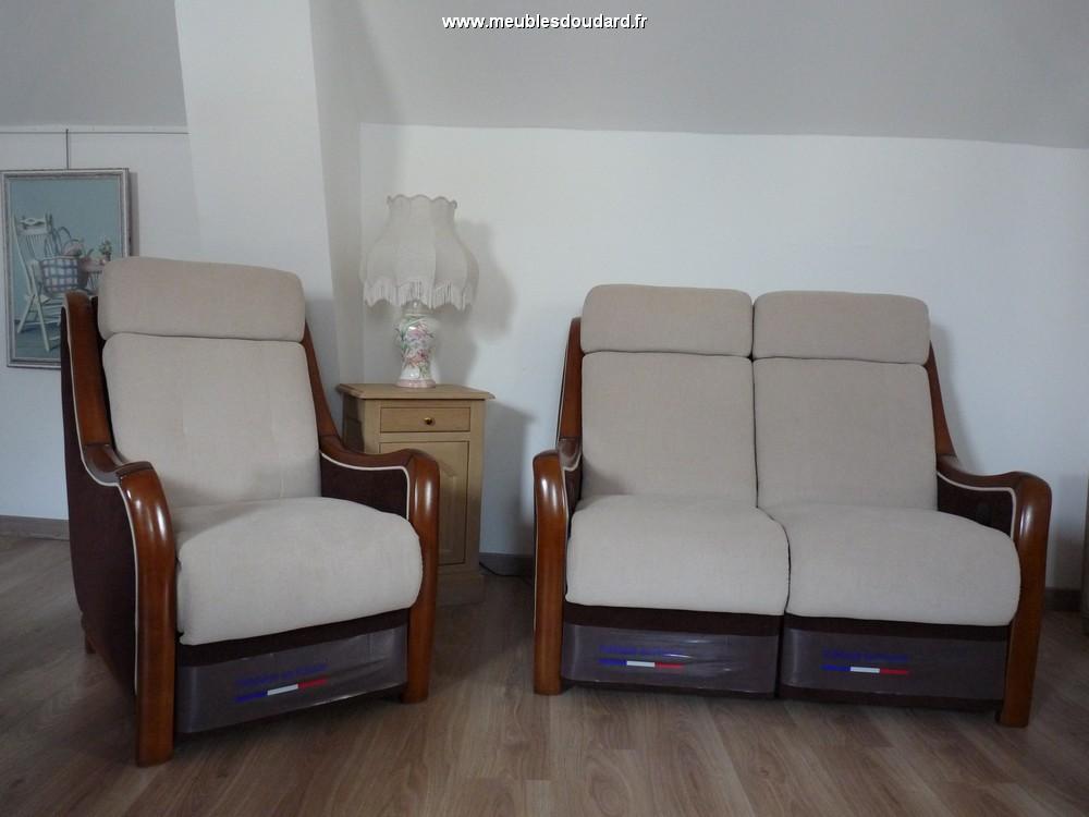 Salon tissu relaxation lectrique r f guitry - Salon relax electrique ...