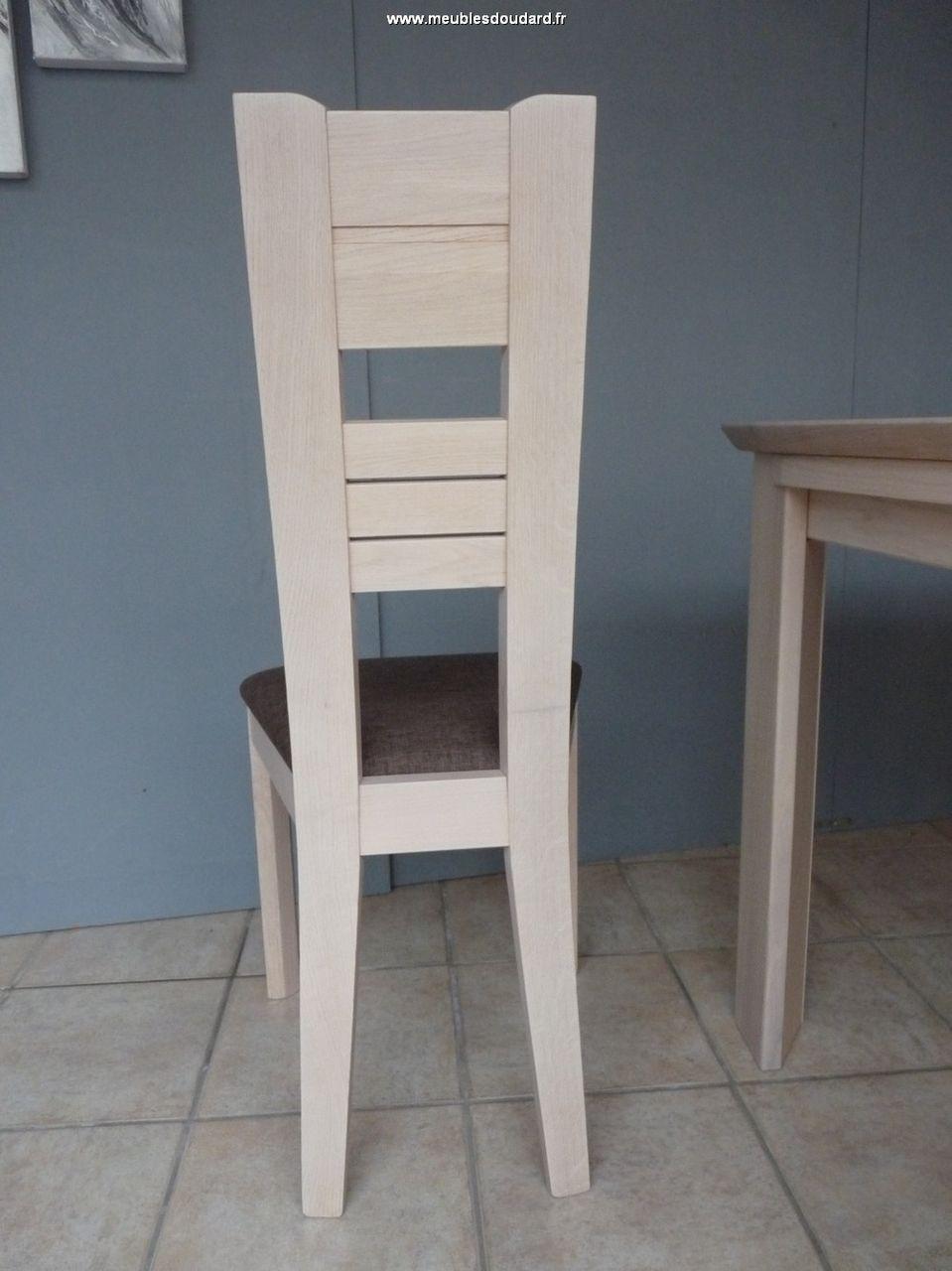 Chaise Moderne BALI En Chene Blanchi