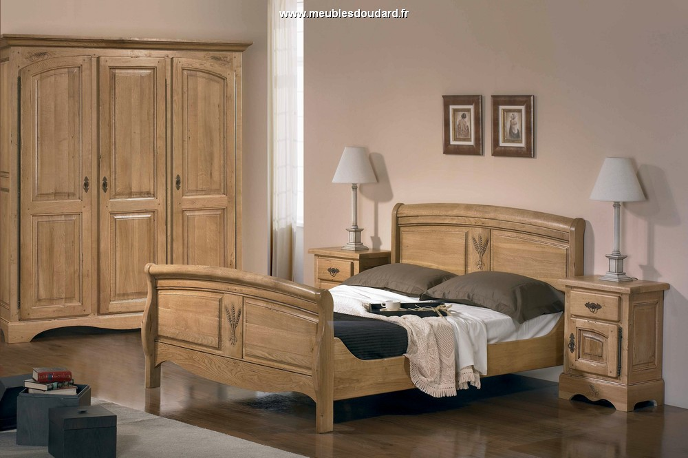 lit louis philippe en bois bois de lit en ch ne massif. Black Bedroom Furniture Sets. Home Design Ideas